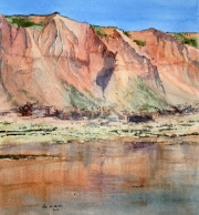 Pam-WIlliams-Filey-cliffs-watercolour